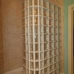 Glass Block Shower in Master Bath